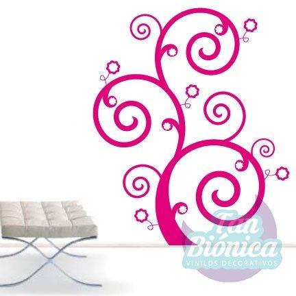 Flora 2 adhesivo decorativo vinilo sticker para las paredes de tu hogar, flor, rama, planta