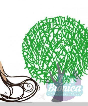 Árbol adhesivo decorativo pegatina sticker vinilo para paredes en chile
