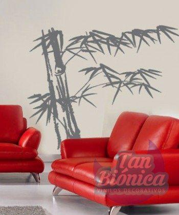 Bambú, flora 32, tanbionica, adhesivo, vinilo, sticker, pegatina, decoración, decorativo, empavonado, paredes, pared, habitacion, pieza