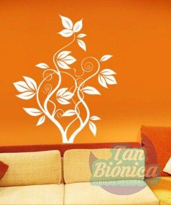 Vinilo adhesivo sticker decorativo flor, empavonado, pegatina, pared, habitación, flores
