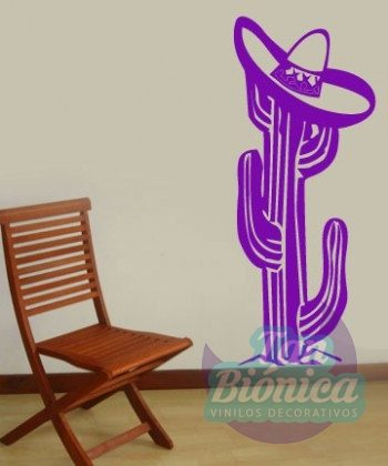 Adhesivo Decorativo vinilo de cactus