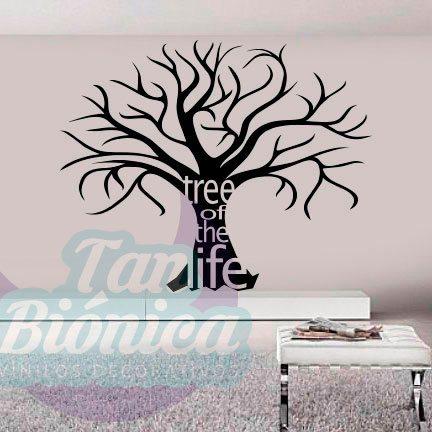 Vinilos adhesivos, decoración para paredes barata y económica, stickers de flores, árbol de la vida.