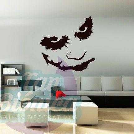 Guasón/Joker villano de Batman, vinilo adhesivo decorativo, sticker barato, decoración personajes.