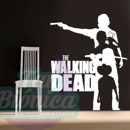 The Walking Dead, series de televisión, zombies. Vinilos Adhesivos Decorativos baratos y económicos, decoración. Stickers empavonados.