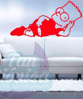 Bart Simpson, vinilos adhesivos decorativos, sticker para paredes, baratos y económicos, personajes de series de televisión.