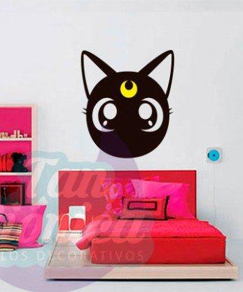 Luna de Sailor Moon, gato, vinilo adhesivo decorativo, sticker barato y económico, empavonados, fotomurales.