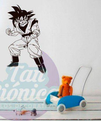 Gokú, Dragon Ball, vinilo adhesivo decorativo, stickers baratos y económicos para tu hogar.