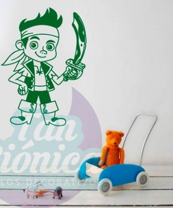 Jake el pirata, vinilos adhesivos decorativos, stickers para tu hogar, infantiles.