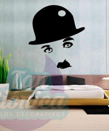 Charles Chaplin Vinilo Adhesivo Decorativo, sticker de películas, personajes baratos y económicos.