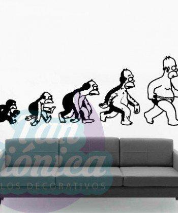 Evolución de Homero Simpson, Homersapien, vinilo adhesivo decorativo, sticker para las paredes.