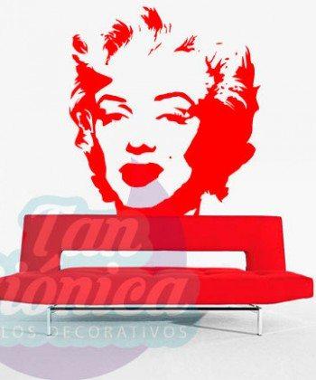 Marilyn Monroe, vinilo adhesivo decorativo, pin up, stickers baratos y económicos, empavonados y fotomurales.
