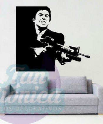 Michael Corleone, El Padrino. Películas. Vinilo adhesivo decorativo, sticker para decoración, empavonados.