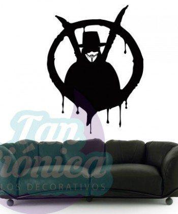 V de Vendetta, Vinilo Adhesivo Decorativo, stickers y empavonados para las paredes.