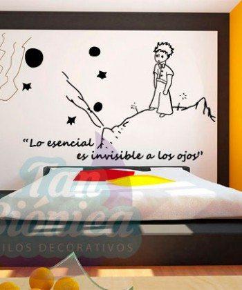 El Principito, lo esencial es invisible a los ojos, Adhesivo Vinilo Decorativo, sticker niño niña