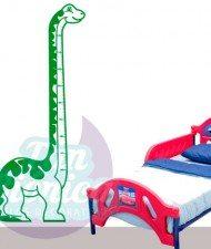 Medidor Infantil de Dinosaurio, adhesivo vinilo decorativo, niños y niñas. Sticker para decoración.
