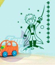 Medidor Infantil de El Principito. Vinilo Adhesivo Decorativo, Sticker para decoración niños y niñas.
