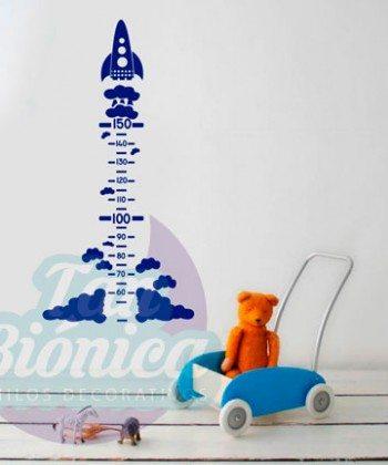 Medidor Infantil de Cohete. Vinilos Adhesivos Decorativos. Stickers para niños y niñas DECORACIÓN