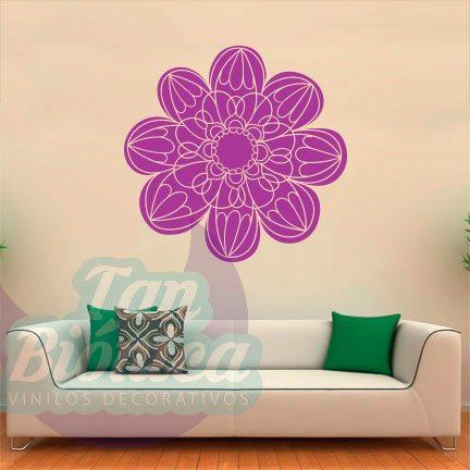 Mandalas, flor, Vinilo Adhesivo Decorativo para paredes. Decoración con Ornamentos.