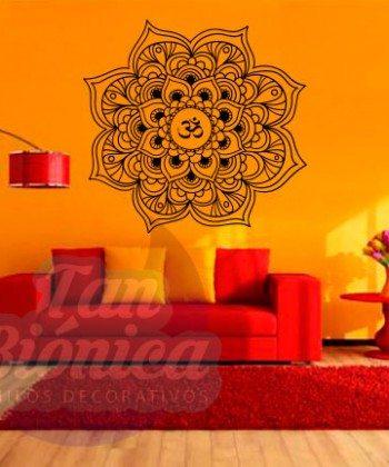 Mandala con OM, meditación, budismo, vinilo adhesivo decorativo tanbionica.cl, empavonados. Envíos a tod chile.