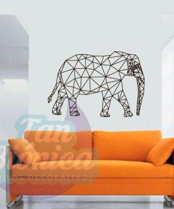 Elefante ornamental, líneas y geométrico. Vinilo Adhesivo Decorativo. Sticker. Empavonados, Fotomurales. Decoración.