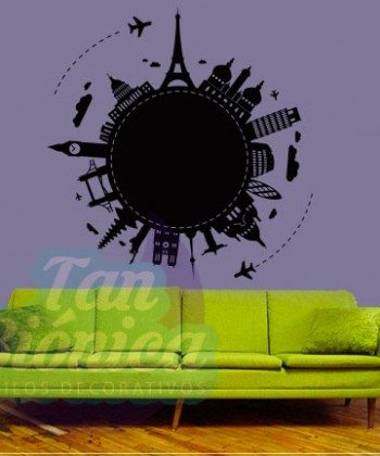 Planeta urbano, torre eiffel, francia, paris, lonfres, ciudades Adhesivo decorativo