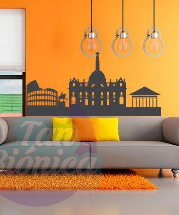 Roma, Italia Vinilo Adhesivo decorativo de ciudades para las paredes, joven y modernoRoma, Italia Vinilo Adhesivo decorativo de ciudades para las paredes, joven y moderno