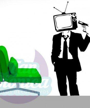 Graffiti Kill your Television, vinilo decorativo esténcil, adhesivo sticker, fotomurales y empavonados, decoración.