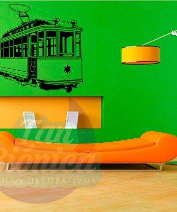 Tren, metro Urbano, medio de transporte, vinilo adhesivo decorativo, sticker