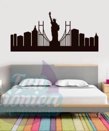 Puente de Brooklyn, Estados Unidos Adhesivos Decorativos Vinilos para las paredes, diseños modernos