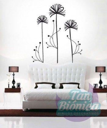 Flor contemporánea, vinilo decorativo adhesivo decoración