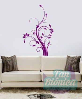 Vinilos decorativos de flores, adhesivos para paredes