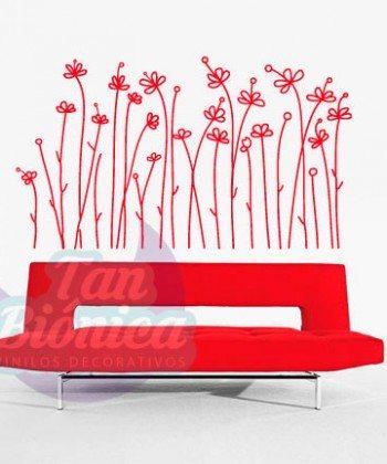 Flores, planta, vinilo adhesivo decorativo tanbionica, chile, fotomurales y empavonados