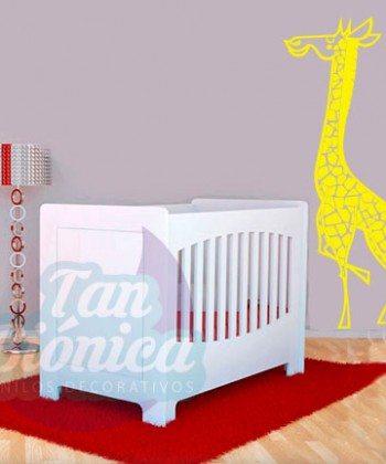 Jirafa de la selva, vinilo adhesivo decorativo infantil para niños y niñas, animales, sticker.