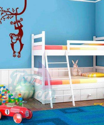 Mono de la selva, vinilo adhesivo decorativo infantil para niños y niñas, animales, sticker.