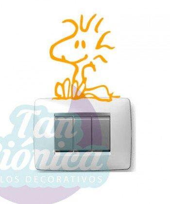 Interruptores 1 Vinilo Adhesivo Decorativo, sticker para interruptores y enchufes de tu casa. Snoopy, emilio, Woodstock