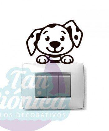 Vinilos Adhesivos Decorativos para enchufes o interruptores, idea, perro dálmata decoración, animales y infantil, empavonados, fotomurales