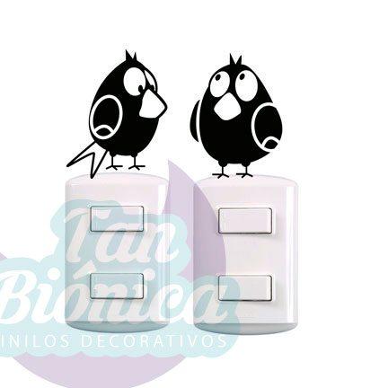 Vinilos Adhesivos Decorativos para enchufes o interruptores, baratos y económicos, decoración para paredes.