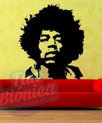Leyendas de música, cantantes, Vinilos Adhesivos Decorativos, fotomurales, empavonados oficinas, Chile, gratuito, barato y económico. Jimmy Hendrix.