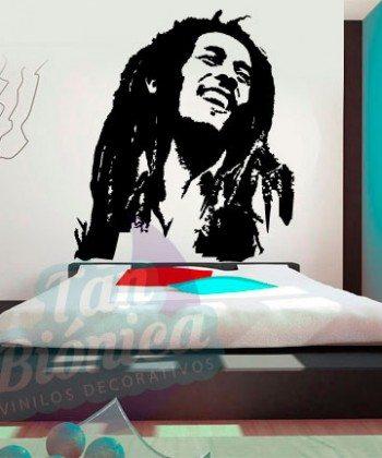 Leyendas de música, cantantes, Vinilos Adhesivos Decorativos, fotomurales, empavonados oficinas, Chile, gratuito, barato y económico. Bob Marley