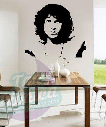 Leyendas de música, cantantes, Vinilos Adhesivos Decorativos, fotomurales, empavonados oficinas, Chile, gratuito, barato y económico, Jim Morrison, The Doors