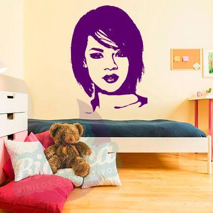 Leyendas de música, cantantes, Vinilos Adhesivos Decorativos, fotomurales, empavonados oficinas, Chile, gratuito, barato y económico,Rihanna