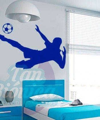 Vinilos Adhesivos decorativos, stickers, empavonados y fotomurales. Baratos y económicos, Pegatinas para las paredes. Jugador de fútbol, futbolista.