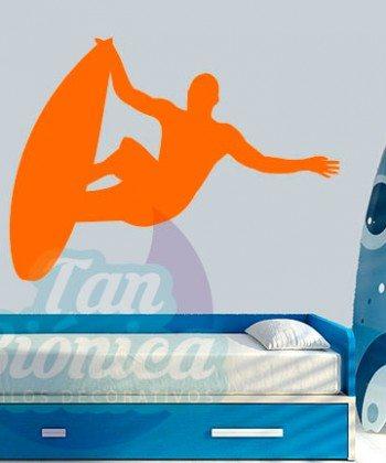 Vinilos Adhesivos decorativos, stickers, empavonados y fotomurales. Baratos y económicos, Pegatinas para las paredes. Surf, surfista, playa, mar