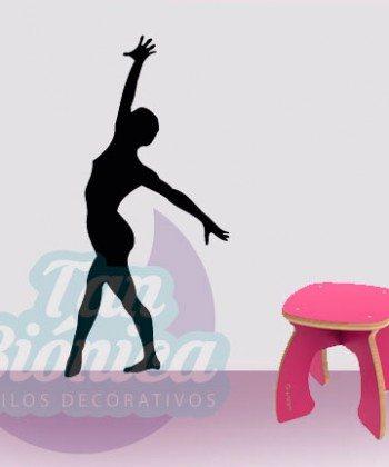 Vinilos Adhesivos decorativos, stickers, empavonados y fotomurales. Baratos y económicos, Pegatinas para las paredes. Bailarina gimnasta