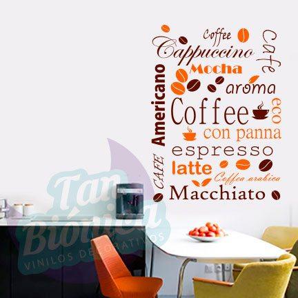 cocina y cafetera 1 vinilo adhesivo decorativo stickers y fotomurales empavonados baratos y - Vinilos Baratos