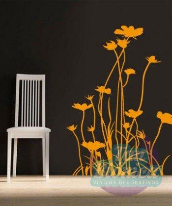 Flores, flor, adhesivo decorativo sticker pegatina