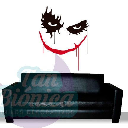 Guasón, Joker de Batman, películas de superhéroes, personajes de cine. Vinilo Adhesivo Decorativo, TV, empavonados.