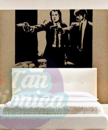 Cine y TV 2 Vincent Vega y Jules Winnfield en Pulp Fictio, película de tarantino, Vinilo Adhesivo Decorativo, Sticker, DEcowall.