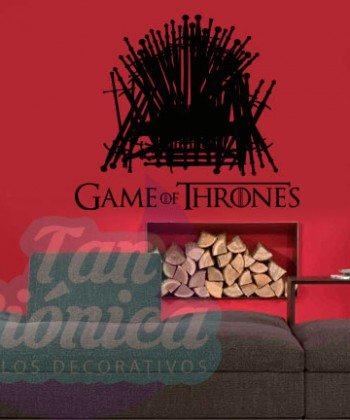 Trono de Games of Thrones Vinilos adhesivos decorativos, stickers de series.