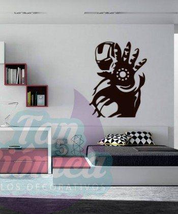 Iron Man, película de superhéroes. vinilos adhesivos decorativos para paredes, empavonados y fotomurales.